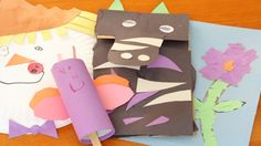 Easy, homemade puppets help children express their feelings.