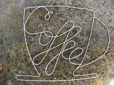 CLEARANCE  COFFEE  OOAK Wire Wrapped Sign by AntoArts on Etsy