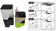 重ねて使うゴミ箱。 分別しやすいし場所を取らない。