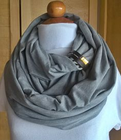 Fashion infinity scarf with leather cuff, infinity scarves,Brown leather cuff,scarves,scarf,womens scarve.accessories by chicbelledejour on Etsy