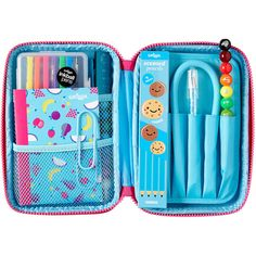 Smiggle Super Gift Pack ($23) ❤ liked on Polyvore featuring home, home decor, office accessories, colored pencils, colored paper clips, colored pens, coloured pencils and colored pencil case