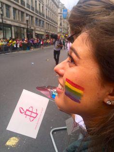 Celebrating Pride at the parade in London