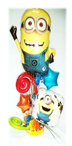 #Arreglo especial #Minnions #Cumpleaños!!! www.globocentro.com.gt!!!