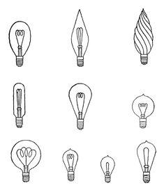 Digital Stamp Design: lightbulbs
