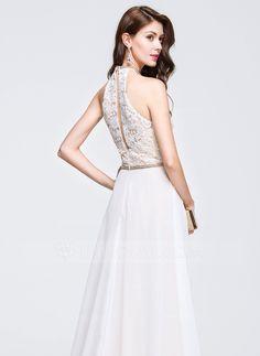 Vestidos princesa/ Formato A Decote redondo Sweep/Brush trem tecido de seda Vestido de baile com Bordado (018076509)