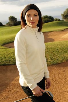 ad919a4fe6179f 2014 Glenmuir Ladies Billie Lambswool Zip Neck Lined Performance Golf  Sweater