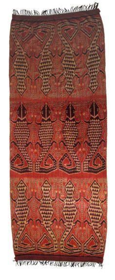 Pua Ikat ceremonial blanket, Serawak, North Borneo, early 20th c.