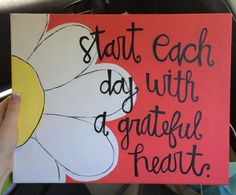 Canvas Start each day with a grateful heart by AmourDeArt on Etsy