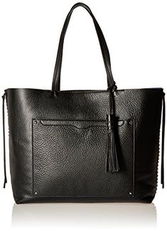 Women's Top-Handle Handbags - Rebecca Minkoff Panama Tote Shoulder Bag Black One Size -- More info could be found at the image url.