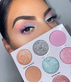 """Rate this makeup look 💜 Brows: """"kybrow"""" dark brown with the brow duo, set with brow gel Eyes: Glamorous Makeup, Glam Makeup, Love Makeup, Makeup Inspo, Makeup Cosmetics, Makeup Inspiration, Beauty Makeup, Pastel Makeup, Perfect Makeup"""
