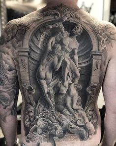 One of the most detailed bizarre art tattoos we have ever seen. Tattoo artist is Via tattooideas tattooist tattoos artshare spectacular surrealart surreal bizarre bizarreart Back Tattoos For Guys, Full Back Tattoos, 3d Tattoos For Men, Back Tattoo Men, Body Art Tattoos, Sleeve Tattoos, Cool Tattoos, Best 3d Tattoos, Nerd Tattoos