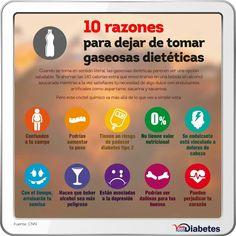 10 razones para dejar de consumir gaseosas dietéticas.
