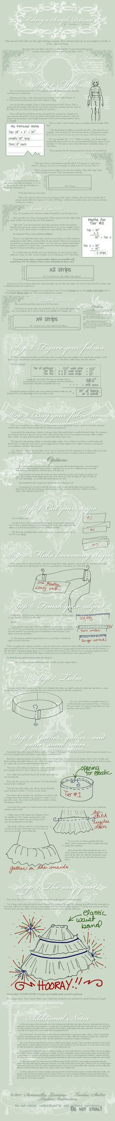 Tutorial: Making a Petticoat by `taeliac on deviantART #cosplay #sewing