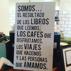 Libros. Cafés. Viajes.
