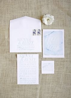watercolor invites by http://www.pitbullsandposies.com/  Photography by lanedittoe.com