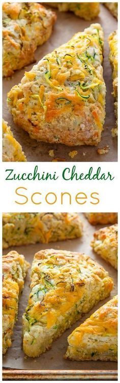 My favorite savory scone recipe loaded with sharp cheddar cheese and fresh zucchini! Who knew veggies could taste this good! My favorite savory scone recipe loaded with sharp cheddar cheese and fresh zucchini! Who knew veggies could taste this good! Savory Scones, Healthy Scones, Cheese Scones, Snacks Für Party, Food To Make, Cheddar Cheese, Queso Cheddar, Food And Drink, Cooking Recipes