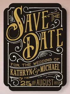 modern script on this Save the Date @minted