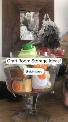 Mason Jar Diy, Mason Jar Crafts, Diy Craft Projects, Craft Tutorials, Home Organization Hacks, Organization Station, Craft Room Ideas On A Budget, Craft Room Design, Craft Room Storage