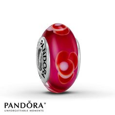 For the Carmen show Jared - Pandora Charm Red Glass Sterling Silver