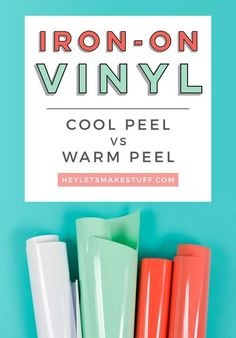 Knowing whether you need to warm peel or cool peel your iron-on vinyl (HTV) is important for getting the best results! Here's a quick primer on hot peel vs. cold peel. Diy Vinyl Projects, Vinyl Crafts, Cricut Tutorials, Cricut Ideas, Cricut Iron On Vinyl, Design Home App, Silhouette Curio, Used Vinyl, Cricut Creations