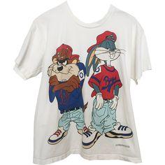 Hip Hop Looney Tunes Vintage T-Shirt.jpg (HipHopLoonbf29.jpg) ❤ liked on Polyvore featuring tops, t-shirts, t-shirt's, vintage tees, vintage t shirts and vintage tops