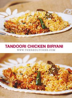 Tandoori Chicken Biryani made from scratch. #Indian #Pakistani #Tikka