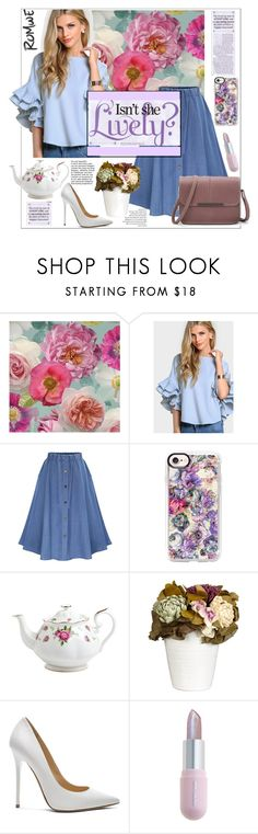 """Romwe"" by natalyapril1976 on Polyvore featuring Mode, Casetify, Royal Albert, John Lewis, Jimmy Choo und Winky Lux"