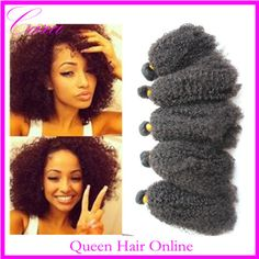 Queen hair products afro kinky curly virgin human hair extension 4/5pcs lot 5A unprocessed brazilian kinky curly virgin hair US $81.20 - 238.00