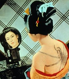 Ayako Wakao in 'Irezumi' (a. Electric Sheep, Traditional Japanese Tattoos, Irezumi, Human Condition, Film Stills, Pulp Fiction, Sexy Tattoos, Photos, Pictures