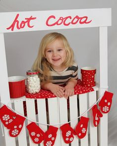 Holiday Portraits | Hot Cocoa Stand | Kids Portraits Cocoa, Christmas Ideas, Portraits, Seasons, Holidays, Holiday Decor, Kids, Photography, Young Children