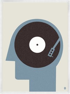 Music On The Mind / My Little Underground. #djculture #musicart http://www.pinterest.com/TheHitman14/dj-culture-vinyl-fantasy/