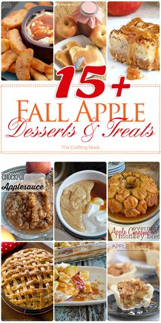 Love apples??? I bet you do! Here I've got 15+ Fall Apple Desserts and Treats…