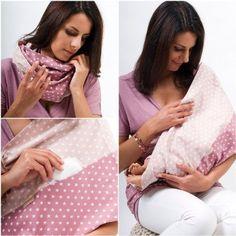 """La sciarpa allattamento grigio motivo """"Rosalie"""", taglia S-M"""