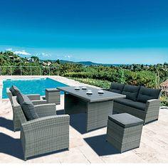 Salon de jardin Bora Bora noir - HESPERIDE | Idées deco | Pinterest ...