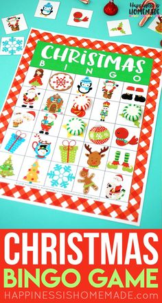 This festive Christmas Bingo Game is a ton of fun for kids and adults! 35 different bingo calling cards, so it's great for both classic bingo and blackout! Christmas Bingo Printable, Christmas Bingo Cards, Christmas Party Games For Kids, Kids Party Games, Christmas Parties, Xmas Games, Unique Christmas Gifts, Christmas Fun, Office Christmas
