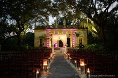 Dominique and Dawan Landry's Vizcaya wedding. Planned & designed by Tiffany Cook Events