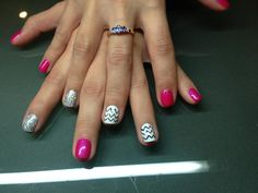 Shellac Nails, the chevrons look a bit dodge, but nice idea :)