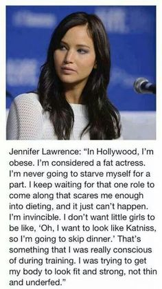 Did she just say she is obese!!!!!!!!!!!!! NO JEN YOU ARE PERFECT AND AMAZING DONT LET THE MEDIA TRY AND MAKE YOU THINK DIFFERENT