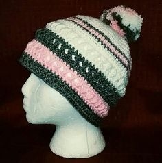 Love this hat...pattern and color combination!  Idea Only...No Pattern