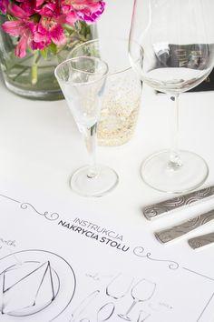 Jak nakryć stół? — ściąga do druku jak ułożyć sztućce, kieliszki i talerze na stole formalnym oraz w opcji mniej zobowiązującej