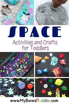 Space activities and craft ideas for toddlers and preschoolers- fun Space activiites for toddlers and preschoolers - great for STEM or STEAM learning activities for toddlers Space Activities and Crafts for Toddlers Quiet Toddler Activities, Space Activities For Kids, Space Preschool, Toddler Themes, Toddler Fun, Toddler Preschool, Toddler Crafts, Preschool Activities, Crafts For Kids