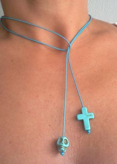 Skull and Cross String Jewelry.  Can be used as an Anklet, Bracelet and Necklace by Rum Cay, $9.95