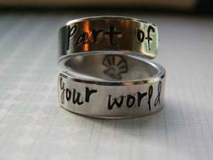 Part of your world ring, $11