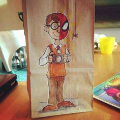 Illustrator dad keeps his art active by daily drawing on his son's lunch sacks