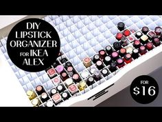 BEST DIY 198 LIPSTICK ORGANIZER FOR IKEA ALEX DRAWER I Futilities And More
