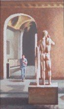 Salles romaines. 2009 huile sur toile 81x47,5 cmcollection particulière