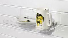 Slatwall Shelf : Acrylic / Perspex Slatwall Shelves