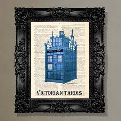 "Dictionary Print: - Doctor Who fans ""Vintage Victorian Tardis"" - Printed on an antique dictionary page, Steampunk, Geekery. $10.00, via Etsy."