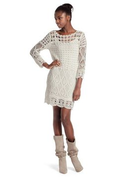 Feminina croche: lindo vestido