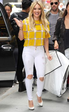 Love this look, Hilary Duff!